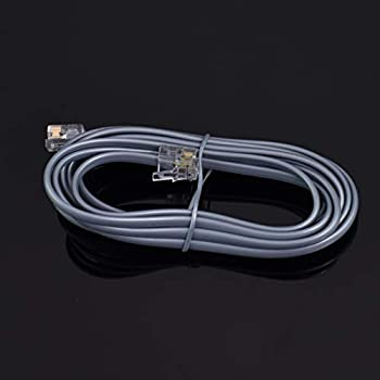 NEW HIGH SPEED 7FT RJ11 6P4C 4 PIN TELEPHONE PHONE ADSL MODEM LINE CABLE CORD