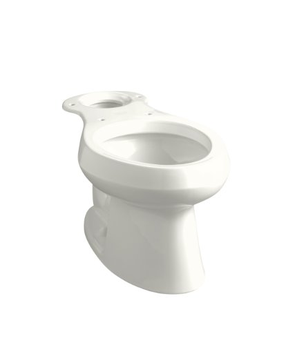 (Kohler K-4293-0 Wellworth Elongated Toilet Bowl with Class Five Flushing Technology, White)