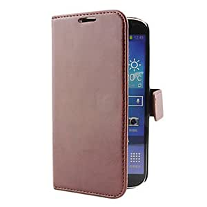 PU Leather Wallet Case with Card Slot for Samsung Galaxy S4 I9500 (Assorted Colors) --- COLOR:Red