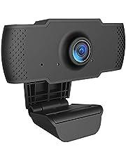 كاميرا كمبيوتر USB صغيرة قابلة للدوران مرنة قابلة للدوران من Decdeal Full HD 1080P