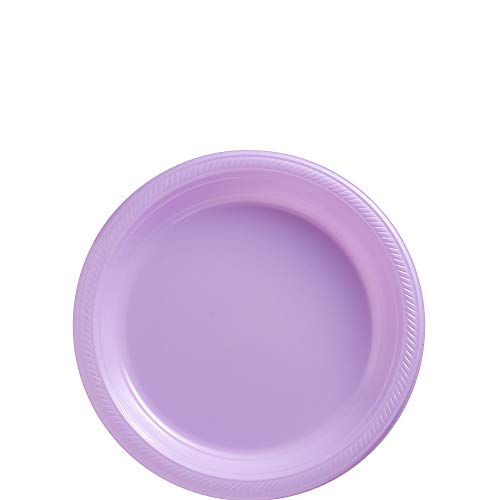 Amscan 630730.04 Lavender Big Party Pack Plastic, Purple Plates, 7