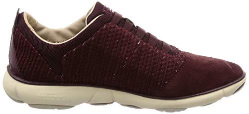 Til C Røde D Sneakers C7357 Geox Kvinder dk Bordeaux Tågen FBwpqwx6