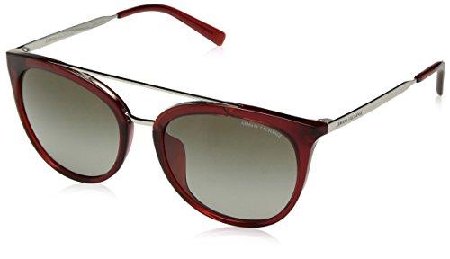 575e89866c Armani Exchange Mujer inyectado mujer anteojos de sol redondas,  transparente, color rojo rubà 55Â