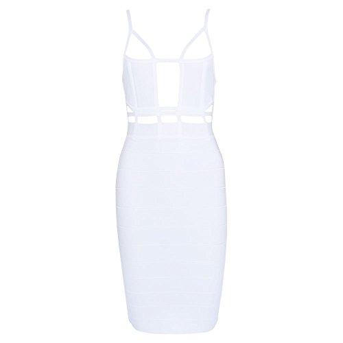 Reizvoller HLBandage Weiß Neutraler Verband aushöhlen Kleid Schlinge Damen Bügel AAr51q