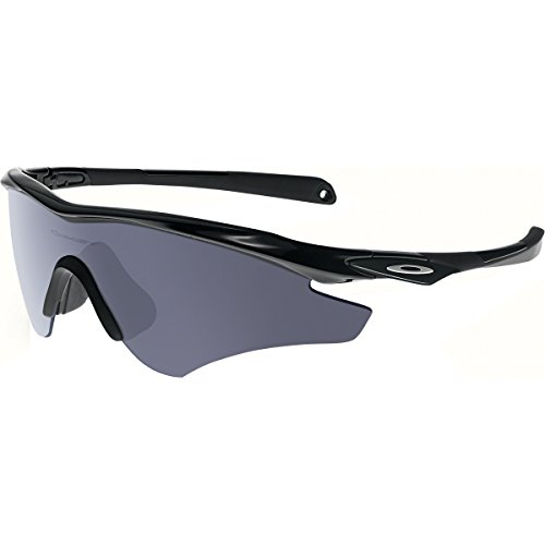 Oakley Men's (a) M2 Frame XL OO9345-01 Shield Sunglasses, Polished Black, 145 - Oakley Frame M2 Sunglasses