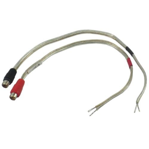 1' 18 Gauge Speaker wire with RCA Female Pair (Black & Red) to Open Speaker Termination Leads by ieCables