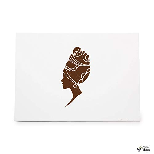 African Women Fashion Models Beautiful, Rubber Stamp Shape Great for Scrapbooking, Crafts, Card Making, Ink Stamping Crafts, Item 1386646
