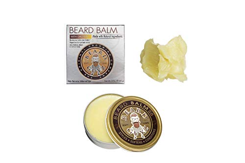 Best Beard Balm Leave-in Styling Conditioner - Made with Natural Ingredients - Softening Oils & Butters For Coarse Facial Hair - Citrus Scented Mens Beard Balm/3 oz. Beard Care by Beard Guyz