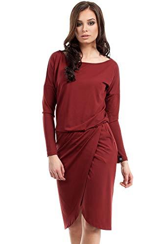 Wickeleffekt Kleid Weinrot Kleid Kleid mit Clea Clea Clea Wickeleffekt Weinrot Weinrot mit Wickeleffekt mit Clea wP0CSqn