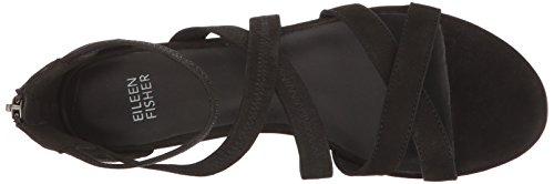 Eileen Fisher Women's Eva-Nu Flat Sandal Black outlet 100% original qowwWR