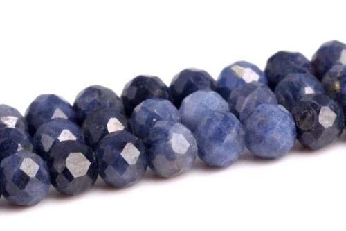 2.5x2mm Genuine Natural Sapphire Grade A Faceted Rondelle Loose Beads 15.5'' Crafting Key Chain Bracelet Necklace Jewelry Accessories Pendants (Genuine Mlb Necklace)