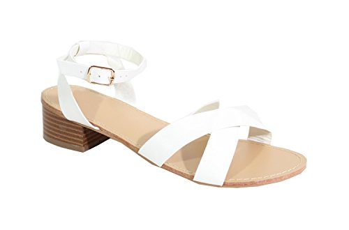 para Blanco Shoes By Mujer Sandalias 4qIxYSE