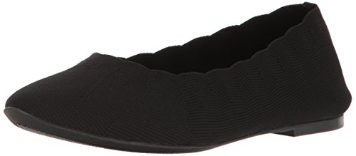 Stretch Ballet Flat - Skechers Women's Cleo Bewitch Ballet Flat,Black,8.5 M US