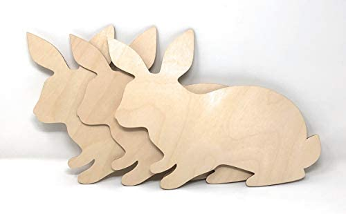 Gocutouts 12 Wooden Bunny Cutouts Shapes Package Of 3 Wooden Easter Cutouts 12 Package Of 3 Bunny