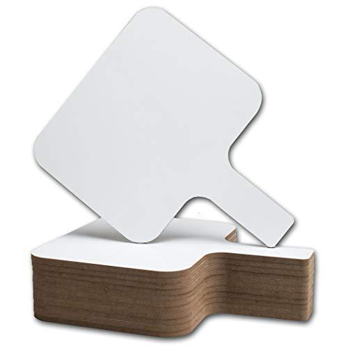 Flipside FLP10039 Economy Dry Erase Answer Paddle, 8