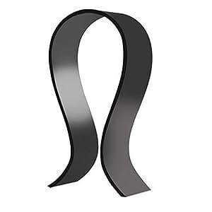 Acrylic Headphone Stand Display Headphone Holder Headphone Hanger Headset Hanger Support Suitable for All Headphone Sizes Black