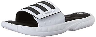 adidas Performance Men's Superstar 3G Slide Sandal,White/Black/Silver,5 M US