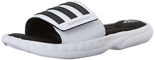 Adidas Fit Foam (adidas Performance Men's Superstar 3G Slide Sandal,White/Black/Silver,11 M)