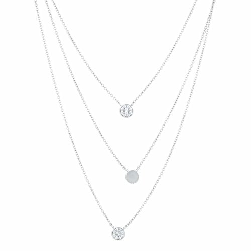 c Zirconium 3 Strand Layer Necklace 20