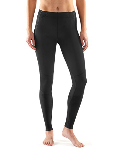SKINS Women's A400Compression Long Tights, Skyscraper Black, - Skins Womens