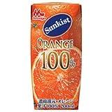 森永乳業 サンキスト 100%オレンジ(プリズマ容器) 200ml紙パック×24本入×(2ケース)