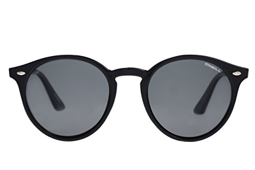 O'Neill Rockall 104p Matte Black Polarized Sunglasses Round, 51 ()