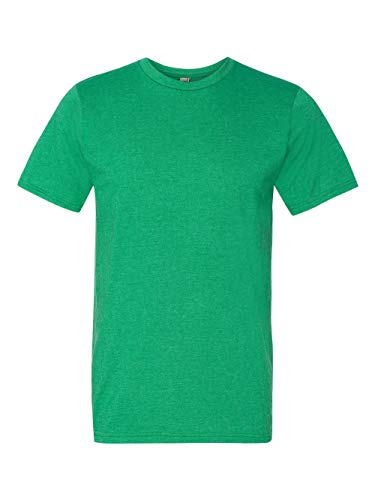 Anvil 980 Adult Lightweight Tee - Heather Green , Large