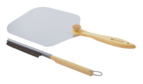 Pizzacraft Pizza Oven Accessories/Folding Peel & Stone Brush - PC0217 (Brush Pizza Oven)