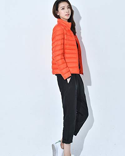 Invierno De Chaqueta Mujer Orange Fit Portátil Plumón Slim RwH1RZ