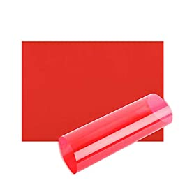 Acetate Sheets A4 OHP Sheet Colour Acetate Clear Film Plastic Light Filter Gel Reading Aid Thick 100 Micron Reading Aid (A4 Size – Red – 1 Sheet)