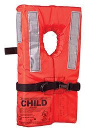 (KENT Commercial Type I Collar Style Life Jacket, Child 50-90 Pounds, Orange)