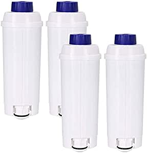 4X Replacement Water Filters Compatible with Delonghi DLS C002 DLSC002 SER 3017 SER3017 Coffee Machine