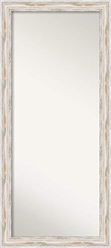 Amanti Art Full Length Mirror   Solid Wood Full Body Mirror   Alexandria White Wash Mirror Full Length   Floor Length Mirror 29.12 x 65.12