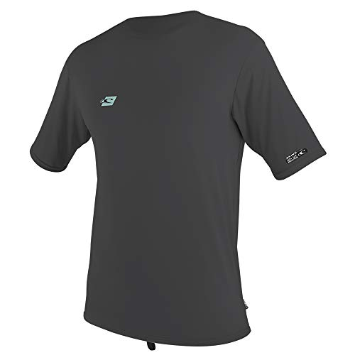 (O'Neill Wetsuits Youth Premium Skins Short Sleeve Sun Shirt, Midnight Oil, Size 8)