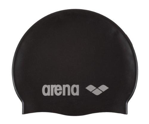 arena Unisex Badekappe Classic Silicone, black-silver, One size,91662
