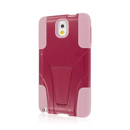 Empire MPERO IMPACT X Series Kickstand Case for Samsung Galaxy Note 3 N900A N900V N9000 - Retail Packaging - Hot Pink