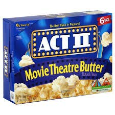 Microwave Popcorn Act II Movie Theatre Butter 8.25 oz