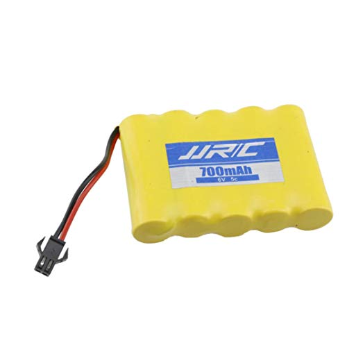 Iusun Battery for JJRC Q60 Truck Car, 6V 700MAH Battery Sapre Parts for JJRC Q60 1/16 Military Truck Car Toy (Yellow)