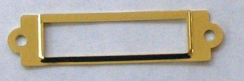 (25 Label/card Holder Brass Plated 5/8x2 1/2 W/screws)