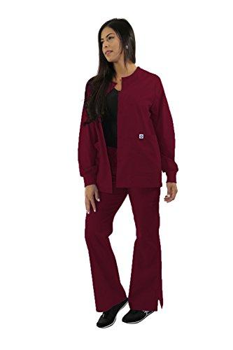 Spectrum Nursing Scrub Jackets - Warm Up Crew Neck - Unisex - Wine - XS