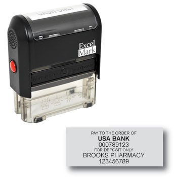 Bank Deposit Stamp with 6 Lines (42A3068)