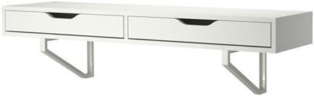 IKEA blanco estante de pared con cajones 46 7/8 x 11 3/8,