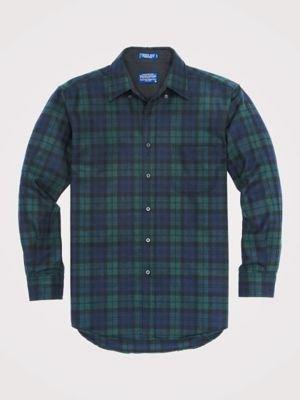 Pendleton Men's Long Sleeve Button Front Classic-fit Fireside Shirt, Black Watch Tartan-30069, XL