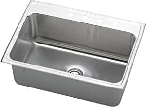 31 x 22 kitchen sink elkay dlr3122120 gourmet single basin drop in stainless 7327