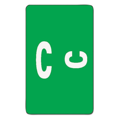 Smead Products - Smead - Alpha-Z Color-Coded Second Letter Labels, Letter C, Dark Green, 100/Pack - Sold As 1 Pack - Use as a secondary label with name labels, or - Primary Coding Labels