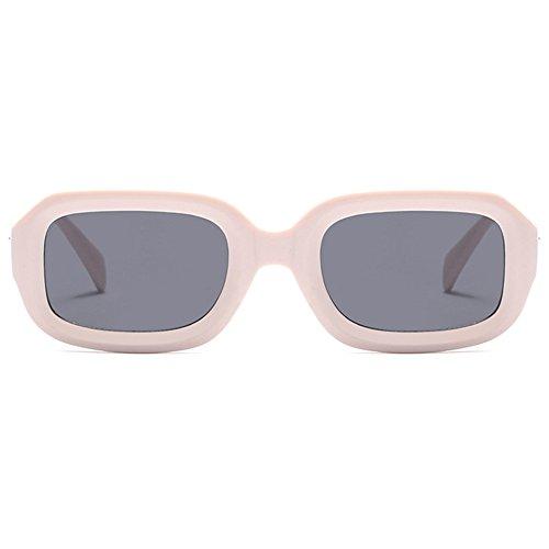 Cadre Retro Vintage UV400 Soleil Pink Hommes 50mm Couleur Rectangle de de Soleil Neutre Lunettes Lentille Lunettes Lunettes Stéréo de Femmes Moolo PxqYwX6AY