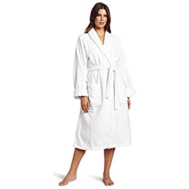Superior Unisex Egyptian Terry Cotton Small Bath Robe, White