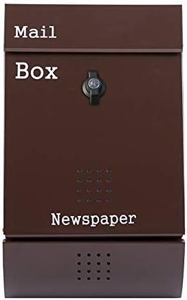メールボックス 屋外Mailbboxマガジン新聞レターボックスウォールマウント 手紙を受け取るため (Color : As Shown, Size : 26x32x8.5cm)