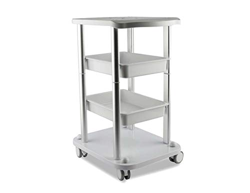 Beauty Salon Furniture Trolley Spa Styling Pedestal Rolling Cart 2 Storage Trays 4 Layers ABS Elitzia ETTRO5S