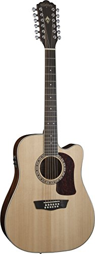Washburn Heritage Series HD10SCE12 12-String Acoustic-Electric Cutaway Dreadnought Guitar Natural (String Washburn 12)